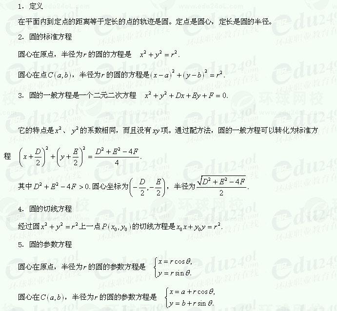 【江苏成考】千赢网页手机版文科数学讲义25--曲线和方程